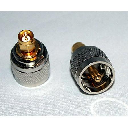 UHF male PL259 plug to SMA Male jack RF adapter; US Stock; Fast