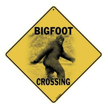 """12"""" x 12"""" Metal Crossing Sign - Bigfoot"""