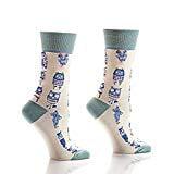 Yo Sox Women's Crew Sock, Owls Fits Women's Shoe Size 6-10.