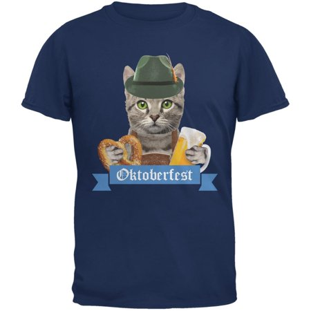 Oktoberfest Funny Cat Metro Blue Adult - Metro 7 Clothing