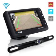 PYLE PLCM4378WIR - Wireless Rear View Backup Camera & Monitor Kit - Vehicle Parking/Reverse System with 4.3 Display Screen