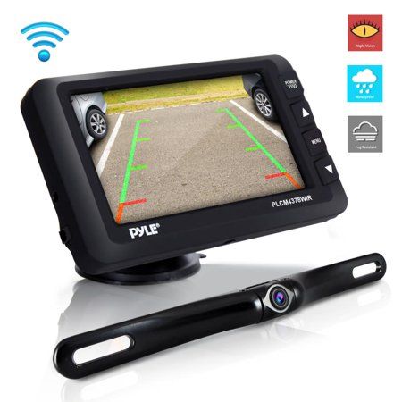 Pyle cordfree Rear View Backup Camera & Monitor Kit - Vehicle Parking/Reverse System with 4.3