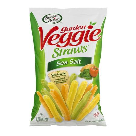 Sensible Portions Garden Veggie Straws Sea Salt, 16.0 OZ