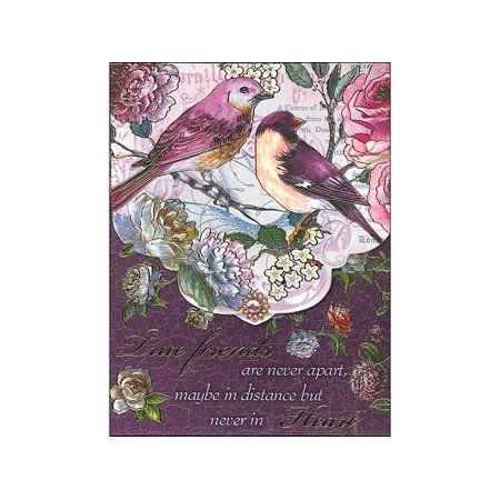 Punch Studio Note Pad Pocket Wow Plum Bird Friend