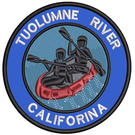 Applique Outdoors Rafting The Toulume River Theme Iron/Sew On Decorative Patch Funny Saying Biker Emblem