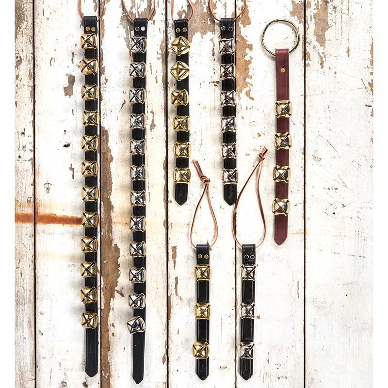 Weaver Arctic Sleigh Bell Door Hanger - No. of Bells: 6 Bells Metal Plate:Nickel