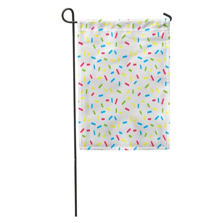 KDAGR Ice Colorful Donuts Glaze Sprinkle Topping Bakery Abstract Food Cream Pattern Garden Flag Decorative Flag House Banner 12x18 inch](Halloween Ice Cream Toppings)