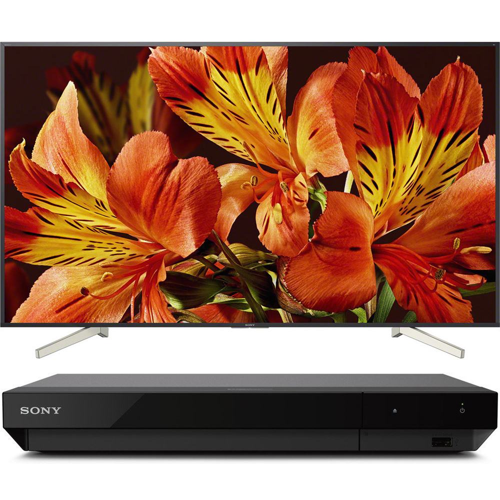 Sony 85-Inch 4K Ultra HD Smart LED TV 2018 Model (XBR85X850F) with Sony 4K Ultra HD Blu Ray Player with Dolby Vision