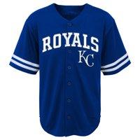MLB Kansas City ROYALS TEE Short Sleeve Boys Fashion Jersey Tee 60% Cotton 40% Polyester BLACK Team Tee 4-18