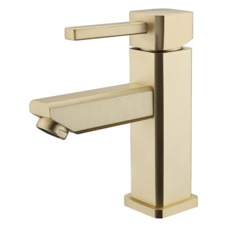 Legion Furniture ZY6301-G UPC Single Hole Faucet with Drain - Brown Bronze (Bronze Single Hole Faucet)