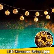 qedertek solar string lights 11ft 10 led moroccan ball fairy globe lantern lights decorative lighting for - Outdoor Decorative Lights