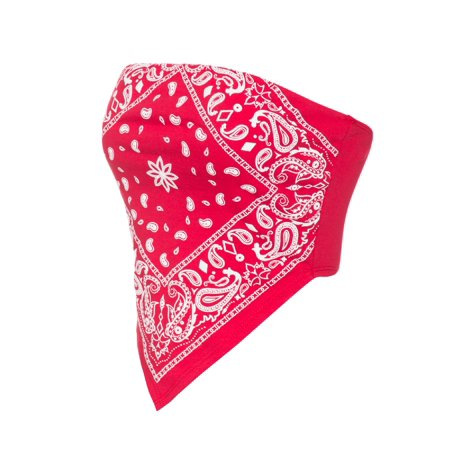 - Made by Olivia Women's Sexy Paisley Bandana Tube Crop Top Shirt- Made in USA Red S