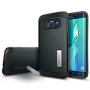 Refurbished Galaxy S6 Edge Plus Case, Spigen [Slim Armor] AIR CUSHION [Metal Slate] Air Cushioned Corners / Dual Layer Protective Case for G