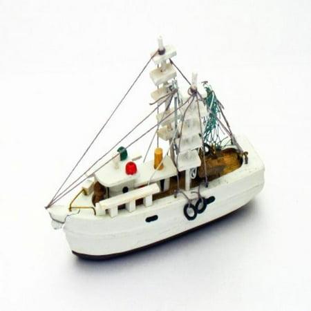 - Wood Nautical 5 Inch Fully Assembled Shrimp Fishing Boat