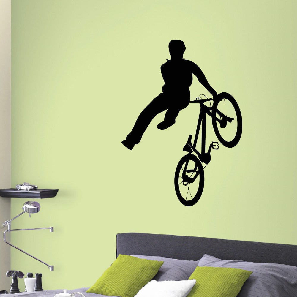 Stickalz llc BMX Vinyl Wall Art Decal Sticker - Walmart.com