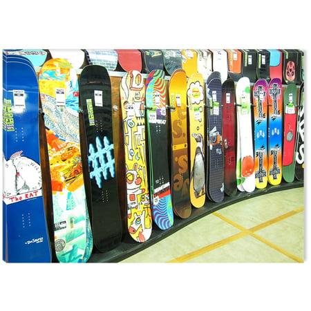 Startonight Canvas Wall Art Snowboard Shop Usa Design For Home Decor
