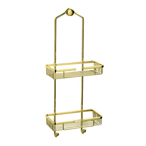 Gatco Hanging Shower Caddy in Polished Brass