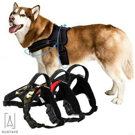 GustaveDesign No Pull Dog Harness for Large Dog Adjustable Pet Vest Harness with belt buckle for Outdoor Walking ()