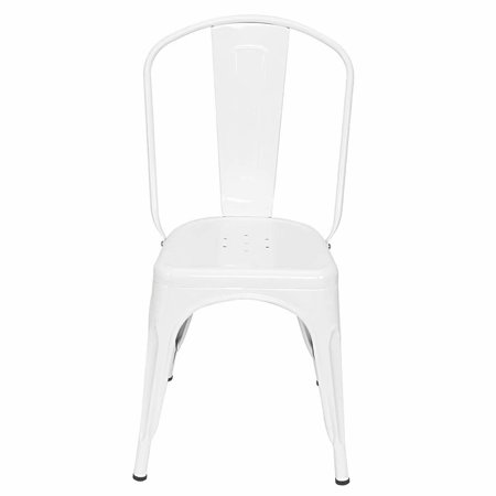 4 Pack High Back Retro Industrial-style Iron Sheet Chair Suitable for Restaurants, Pubs, Cafe (17.5