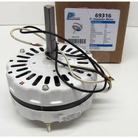 69316 Motor Attic Fan Ventilator White for (Attic Fan)