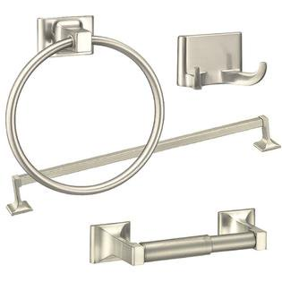 Nickel Proof Set (Randall Series 4-Piece Bath Accessories Set, Brushed Nickel )