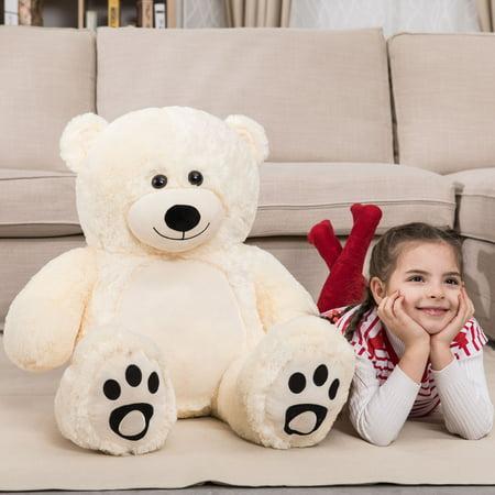 Birthday Girl Bear (WOWMAX 3 Foot Giant Teddy Bear Daney Cuddly Stuffed Plush Animals Teddy Bear Toy Doll for Birthday Christmas Ivory 36 Inches)