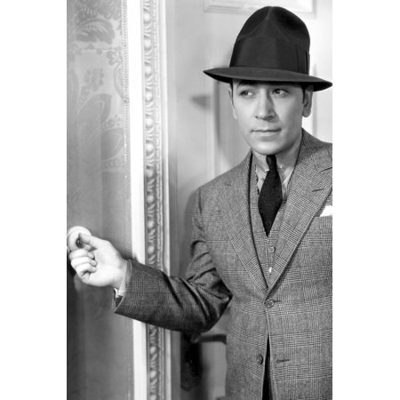 George Raft in Midnight Club dressed in suit/hat ringing door bell 24x36 Poster