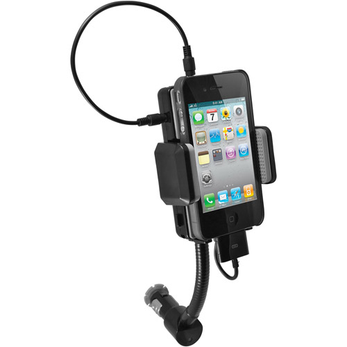iphone fm transmitter all in one ipod iphone fm transmitter charger car kit 11859