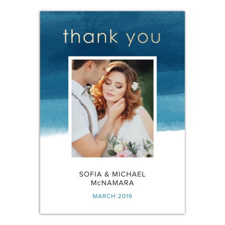 Personalized Wedding Thank You Card - We Do - 5 x 7 Flat](Cheap Wedding Thank You Cards)