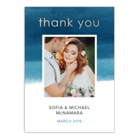 Personalized Wedding Thank You Card - We Do - 5 x 7 Flat