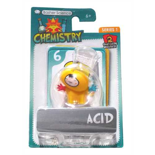 Basher Science Chemistry Series 1 Acid figure with game cards