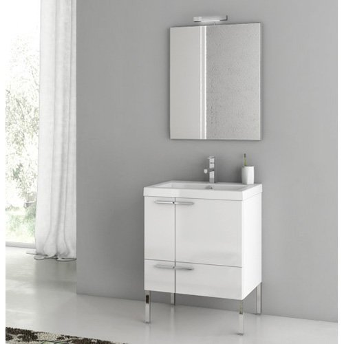 ACF by Nameeks ACF ANS01-GW New Space 23-in. Single Bathroom Vanity Set - Glossy White