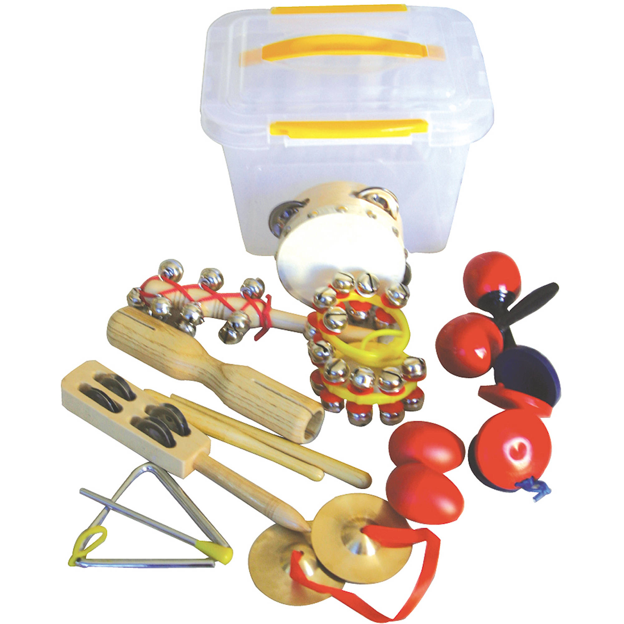 GP Percussion GPPT10 10-Piece Percussion Set with Tub