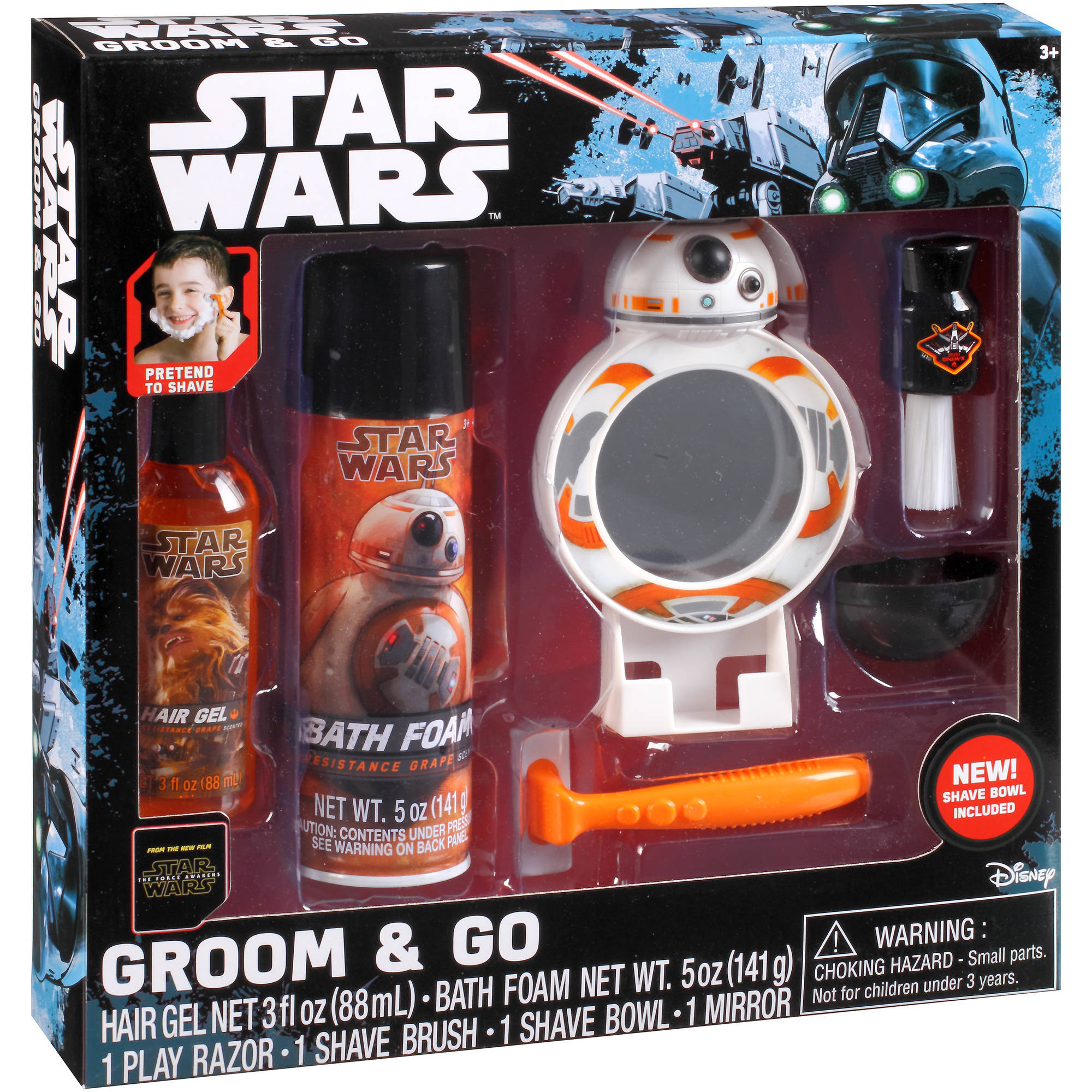 Star Wars Groom & Go Bathtub Play Set, 6 pc