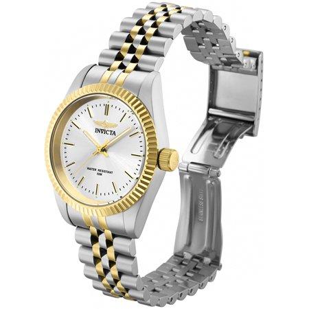 Invicta Women's Specialty Silver Dial Two Tone Stainless Steel Watch (Invicta Womens Silver Dial)