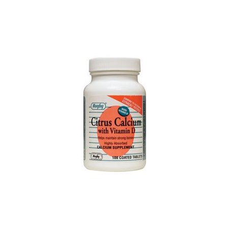 Rugby Citrus Calcium w/ Vitamin D Coated Tablets 100 Count