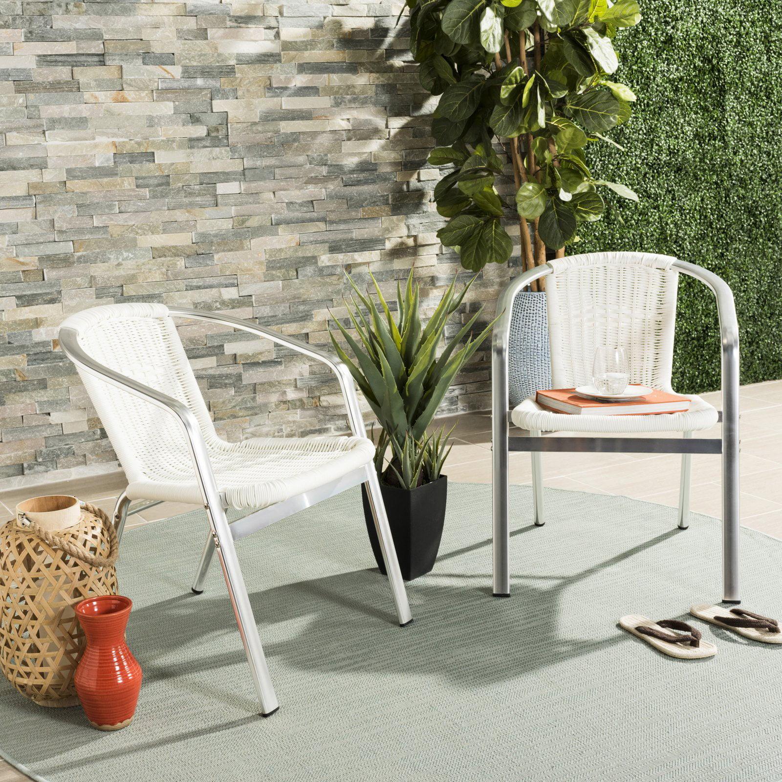 Safavieh Wrangell Indoor/Outdoor Stacking Arm Chair, Set of 2