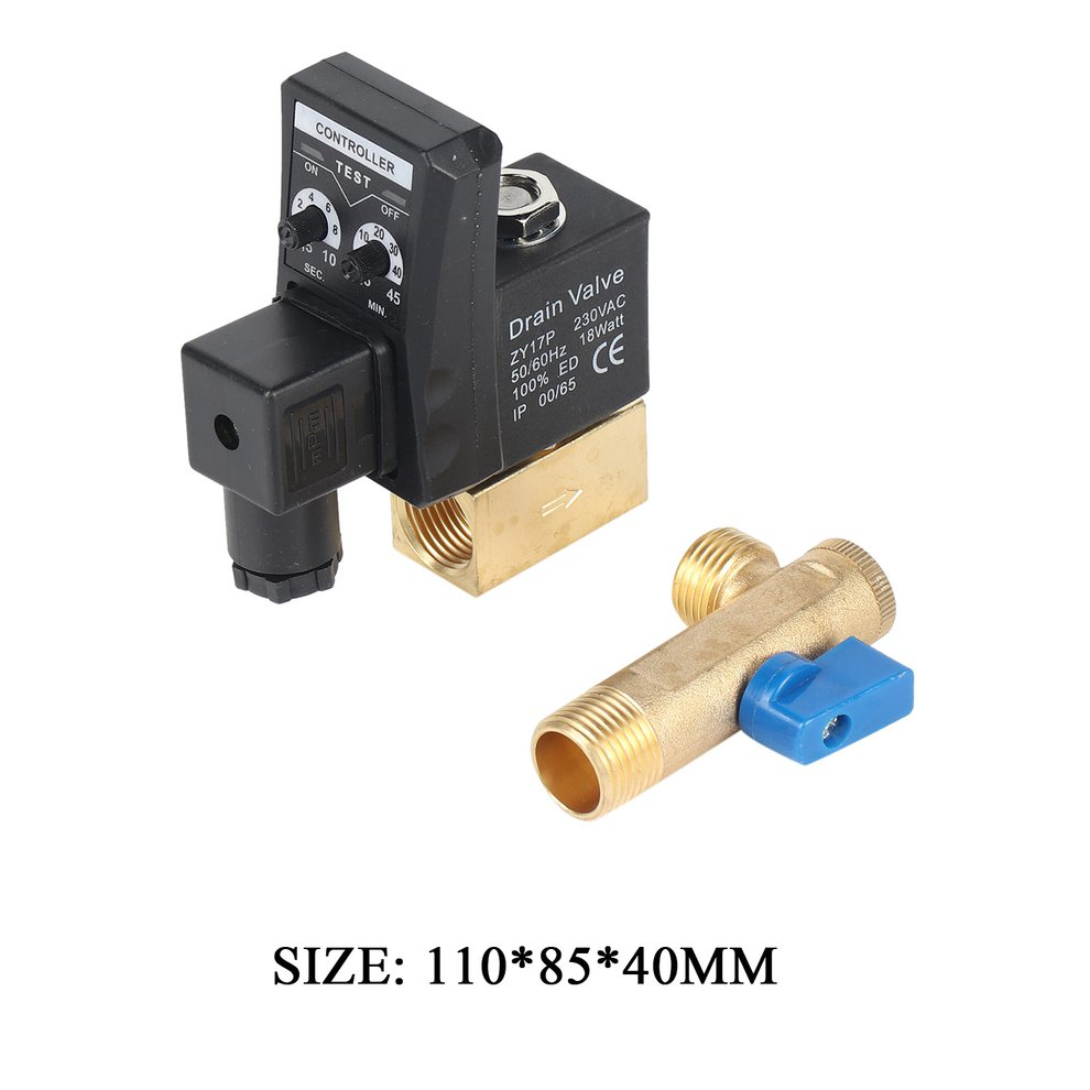 """Automatic Timed Drain Valve 1//2/"""" For  Air Compressor Tank Two-Way Direct-Acting"""