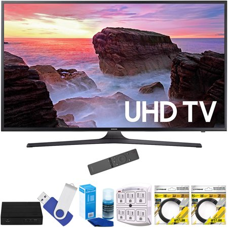 Samsung Un65mu6300fxza 65  4K Ultra Hd Smart Led Tv  2017 Model  Plus Terk Cut The Cord Hd Digital Tv Tuner And Recorder 16Gb Hook Up Bundle