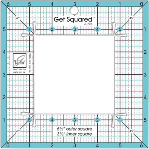 "Get Squared Ruler-6-1/2"" Outer, 3-1/2"" Inner"