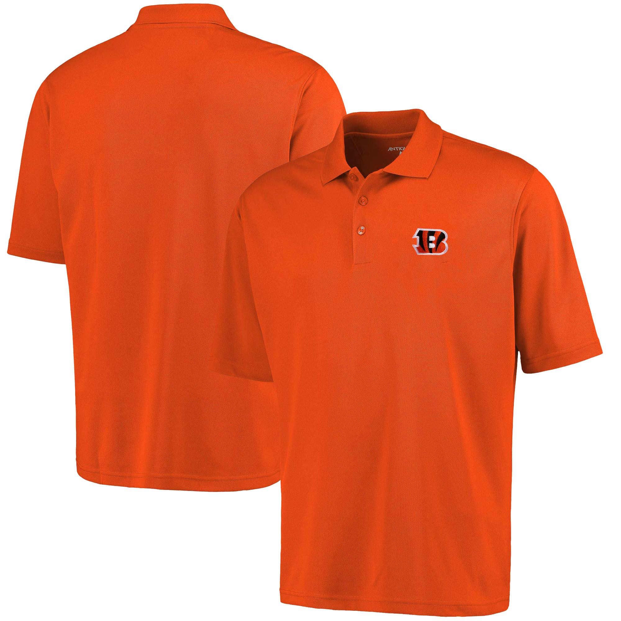 Cincinnati Bengals Antigua Pique Xtra Lite Polo - Orange