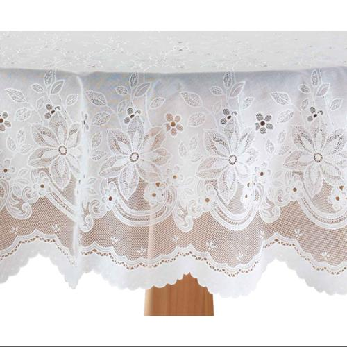 """Miles Kimball 60"""" x 102"""" Oblong  Elegant Floral Vinyl Lace Table Cover"""
