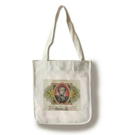 American Girl Brand Cigar Box Label (100% Cotton Tote Bag -