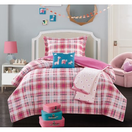 Chic Animal (Chic Home Cady 5 Piece Patchwork Animal Theme Youth Comforter Set )