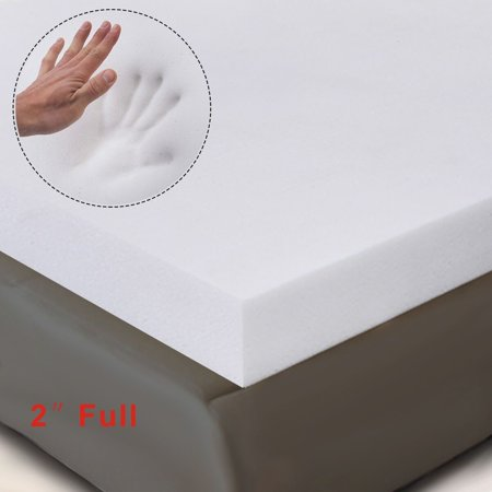Foam Mattress Bed Pad - Costway 2'' Full Size Memory Foam Mattress Pad, Bed Topper 75''x54''x2''