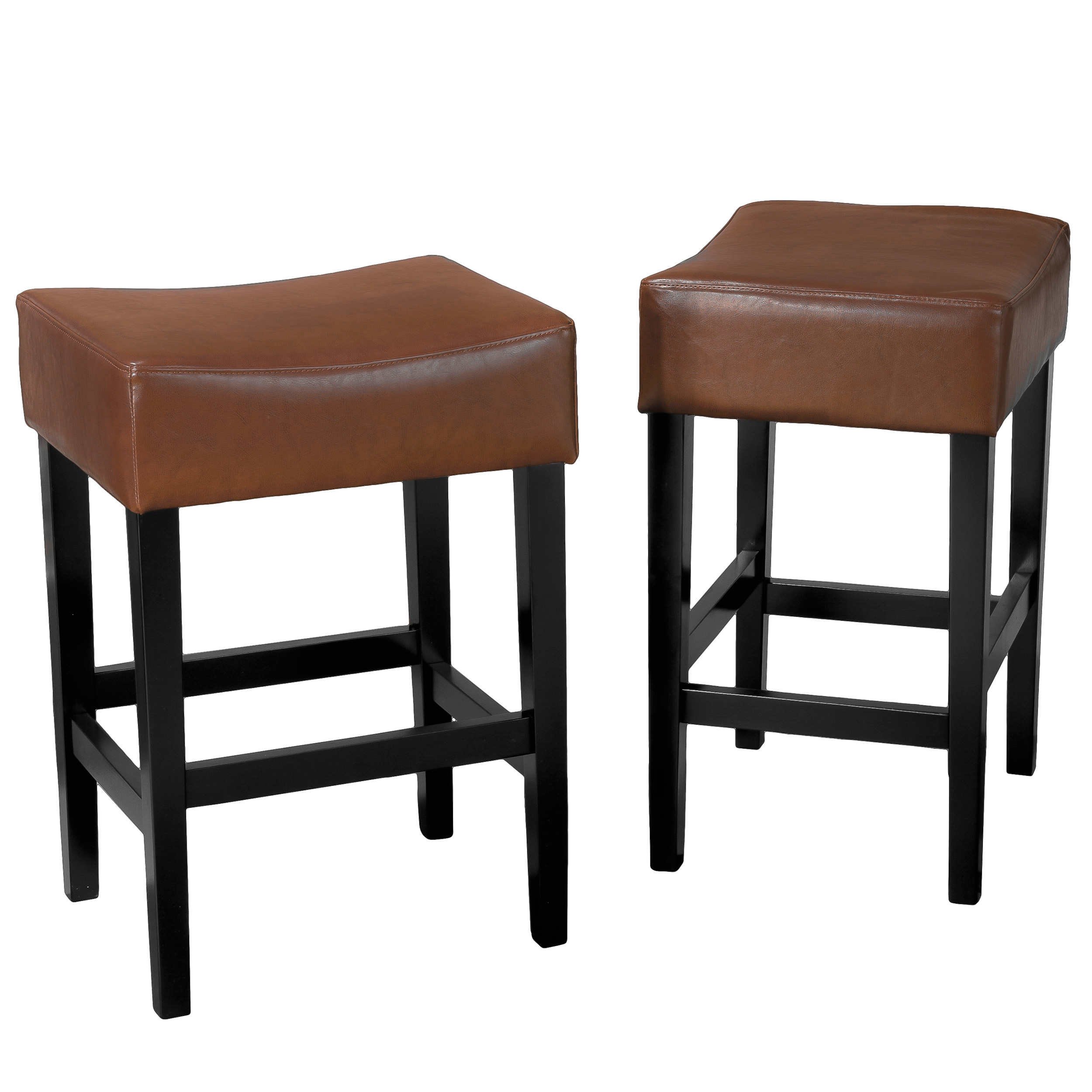 Copperhill Bonded Leather Counter Stools (Set of 2)