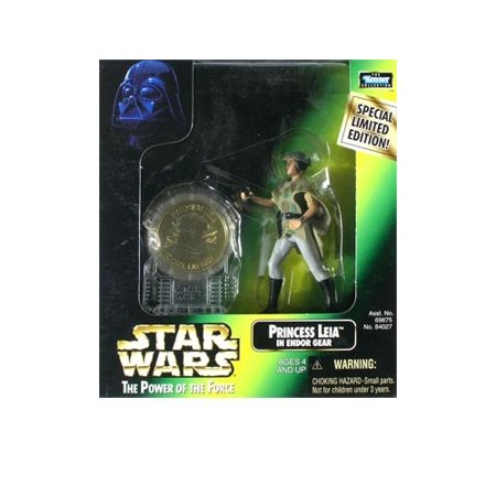 Star Wars: Power of the Force Millenium Coin Edition Princess Leia in Endor Gear Action