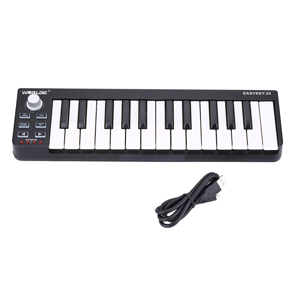 KKmoon Worlde Easykey.25 Portable Keyboard Mini 25-Key USB MIDI Controller by