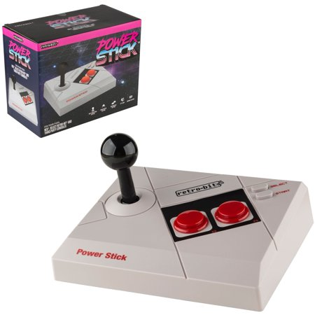 Retro-Bit RES Power Stick Controller for Nintendo NES, RES, RetroTrio Plus, and other NES consoles