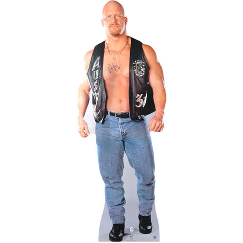 Steve Austin -Stone Cold- Autographed Life Size Stand Up